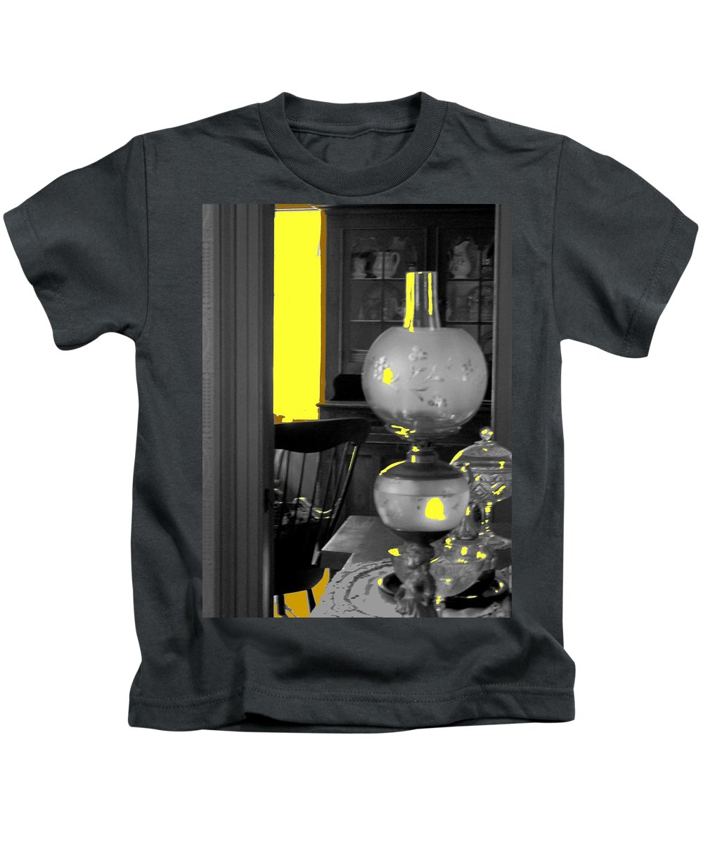 Antiques Kids T-Shirt featuring the photograph Light Among The Antiques by Ian MacDonald