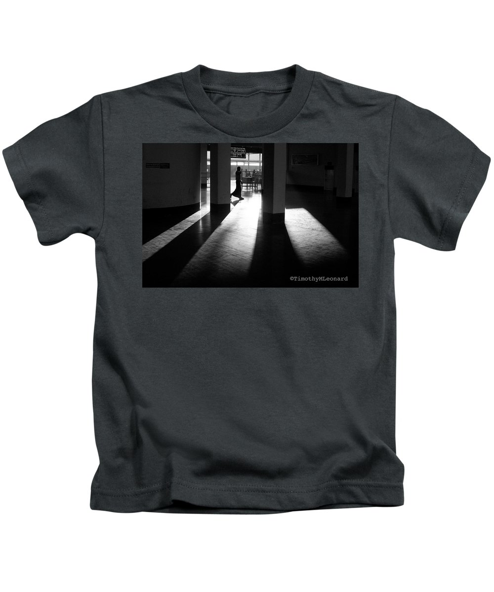 Light Kids T-Shirt featuring the photograph Light And Shadows by Timothy Leonard