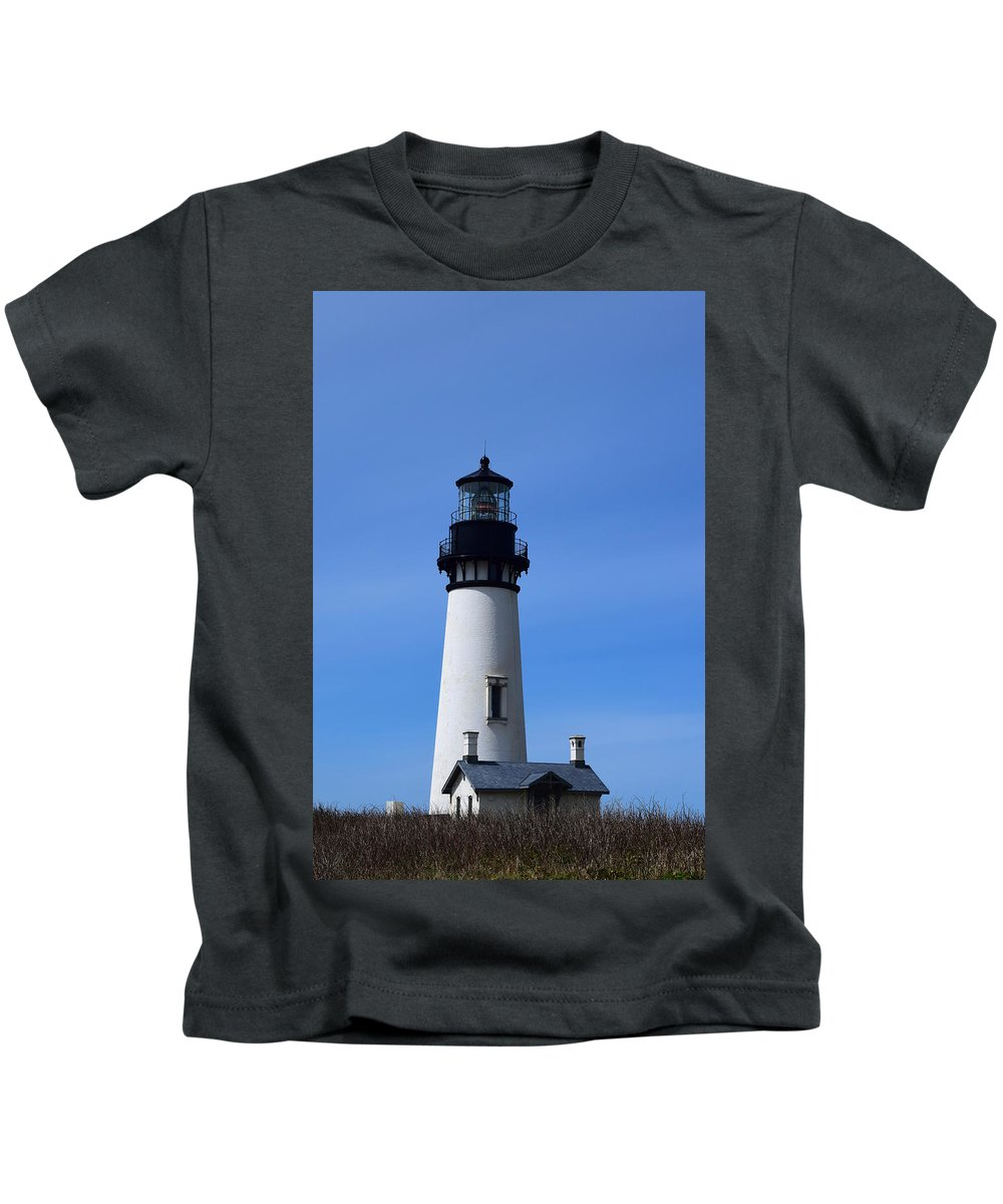 Light House Kids T-Shirt featuring the photograph Light House by Alea Photography