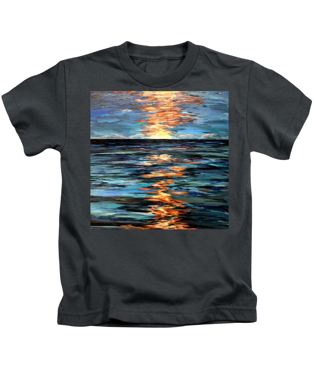Water Kids T-Shirt featuring the painting Light Play by Mary Arneson
