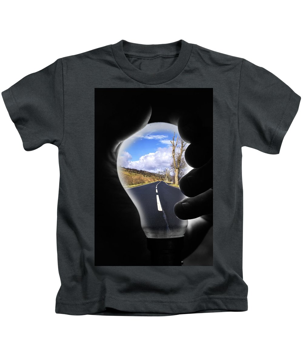 Abstract Kids T-Shirt featuring the digital art Light The Way Home by Gary Ellis