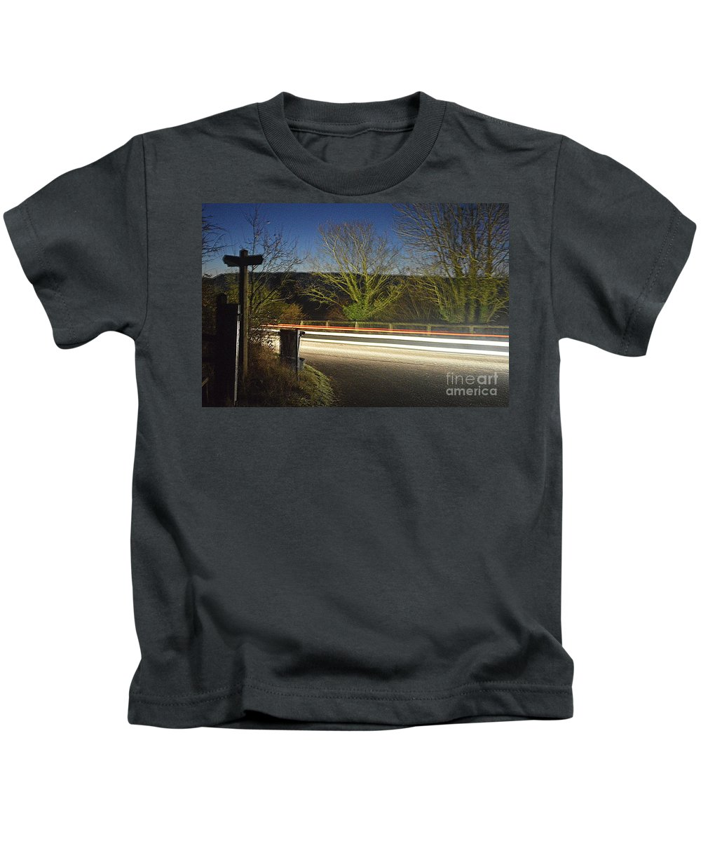 Lights Kids T-Shirt featuring the photograph Light Trails by Andy Thompson