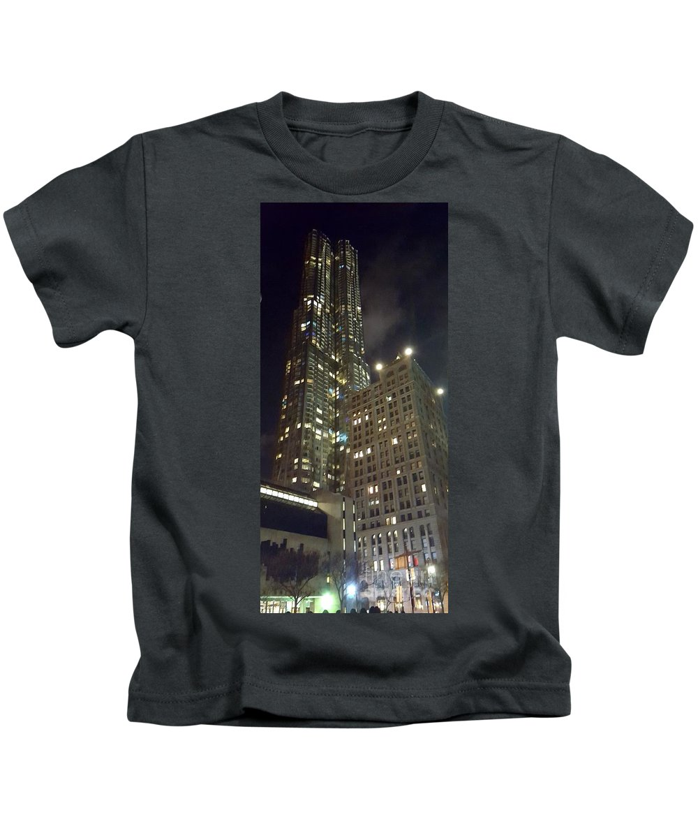 City Kids T-Shirt featuring the photograph Light Up The City by Jamel Thomas