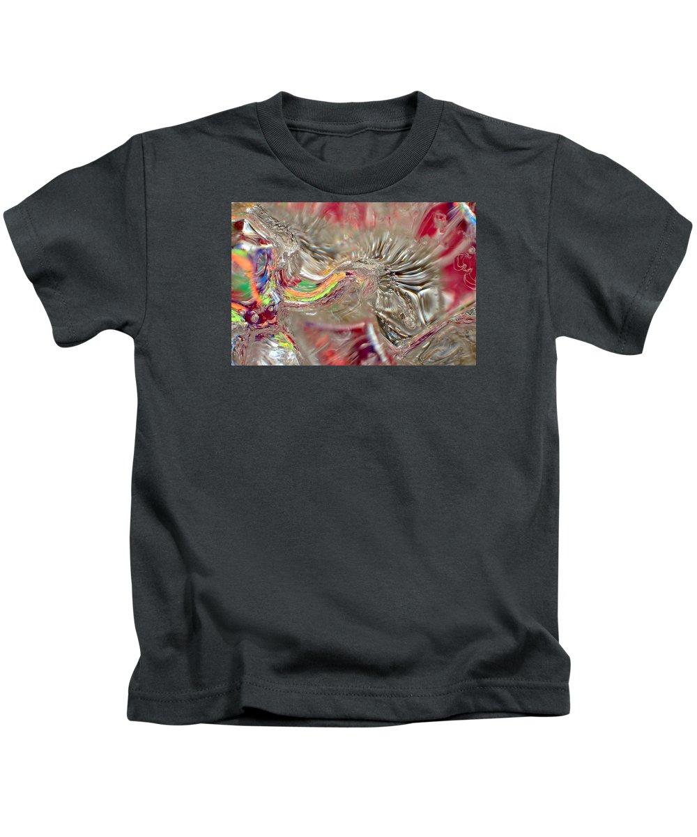 Ice Kids T-Shirt featuring the photograph Light Warp by Alan Buck