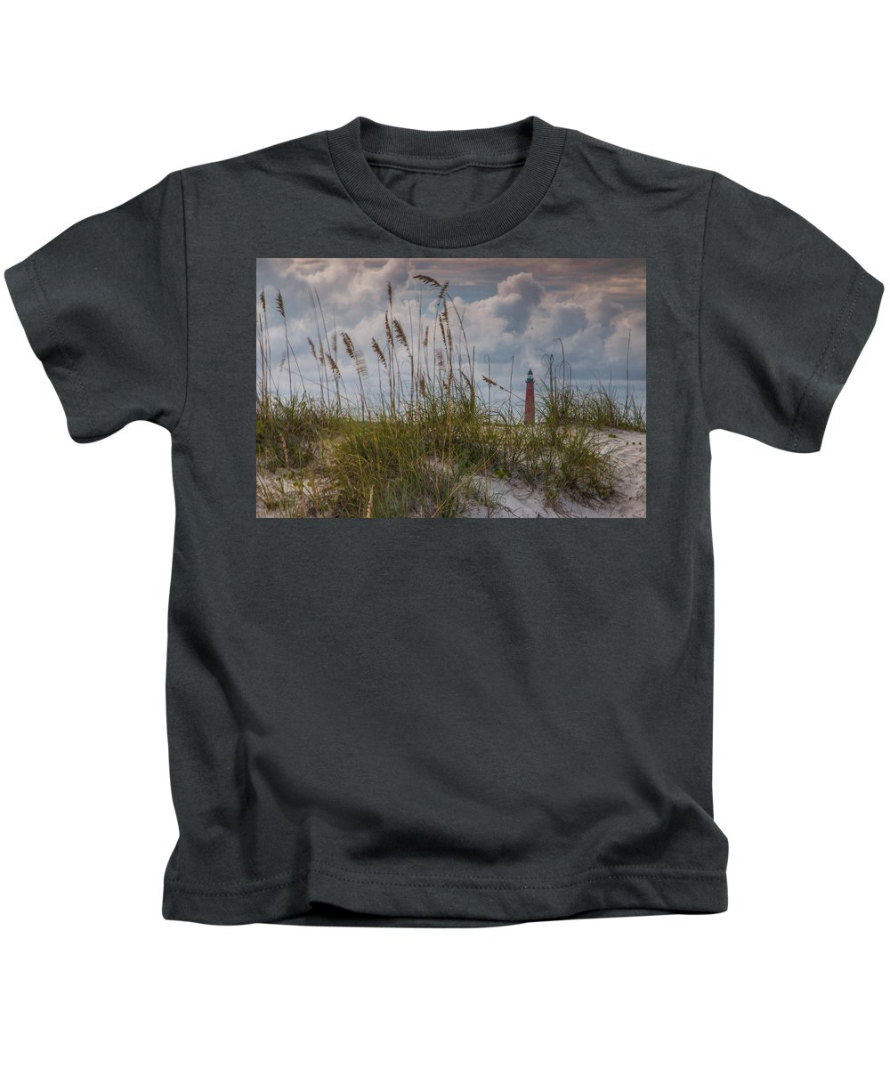 Lighthouse Kids T-Shirt featuring the photograph Lighthouse by William Fredette-huffman