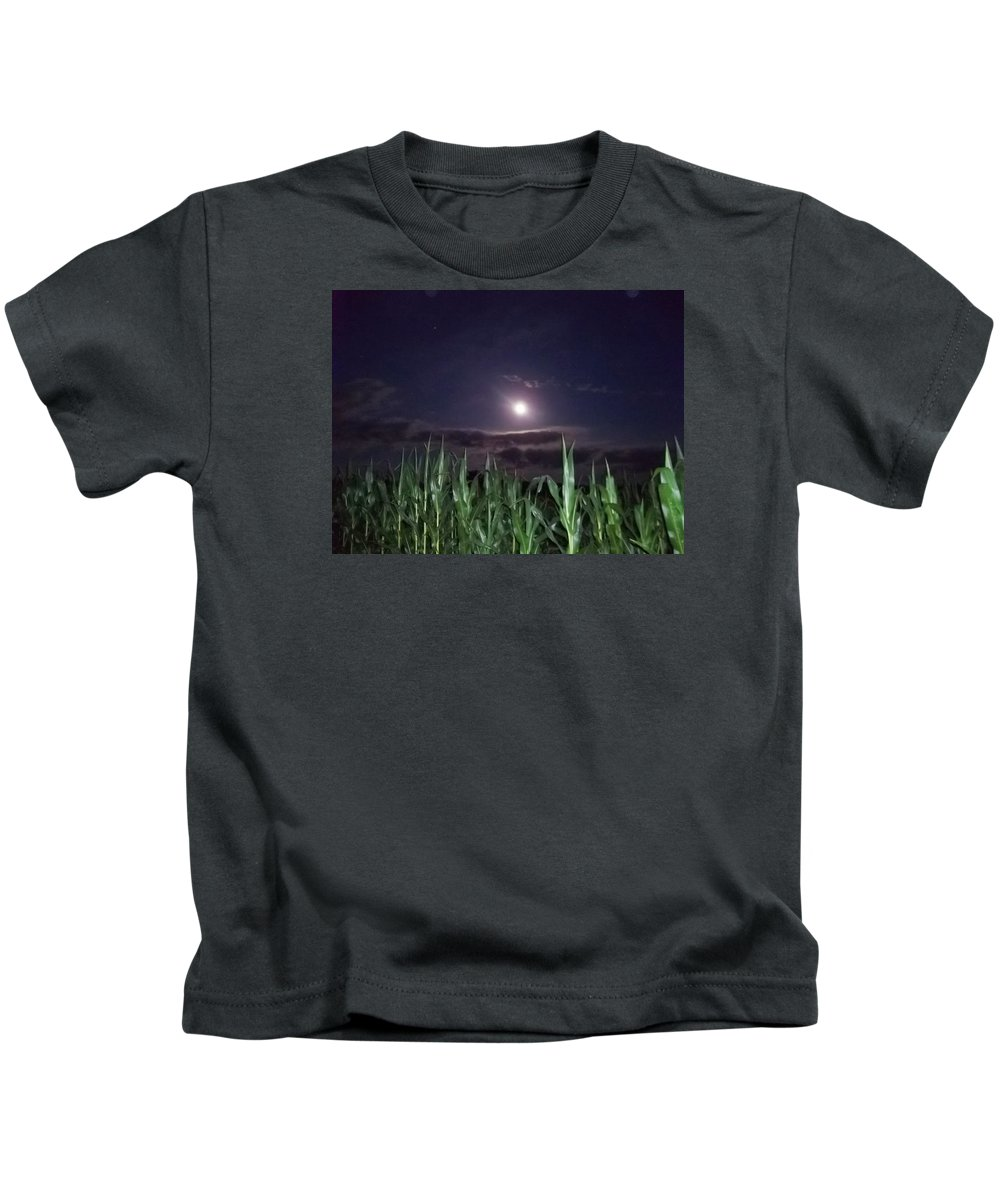 Moon Kids T-Shirt featuring the photograph Lighting The Way by Dawn Mullis