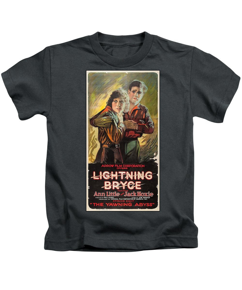 Movie Kids T-Shirt featuring the drawing Lightning Bryce 1919 by Mountain Dreams