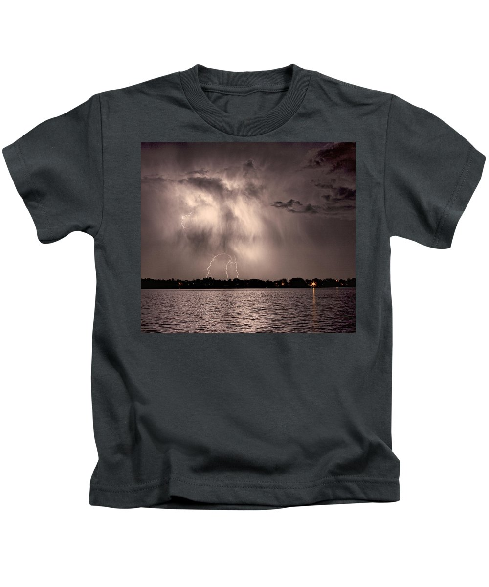Lightning Kids T-Shirt featuring the photograph Lightning Man by James BO Insogna