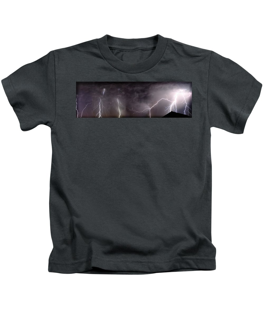 Lightning Kids T-Shirt featuring the photograph Lightning Over Perris by Anthony Jones