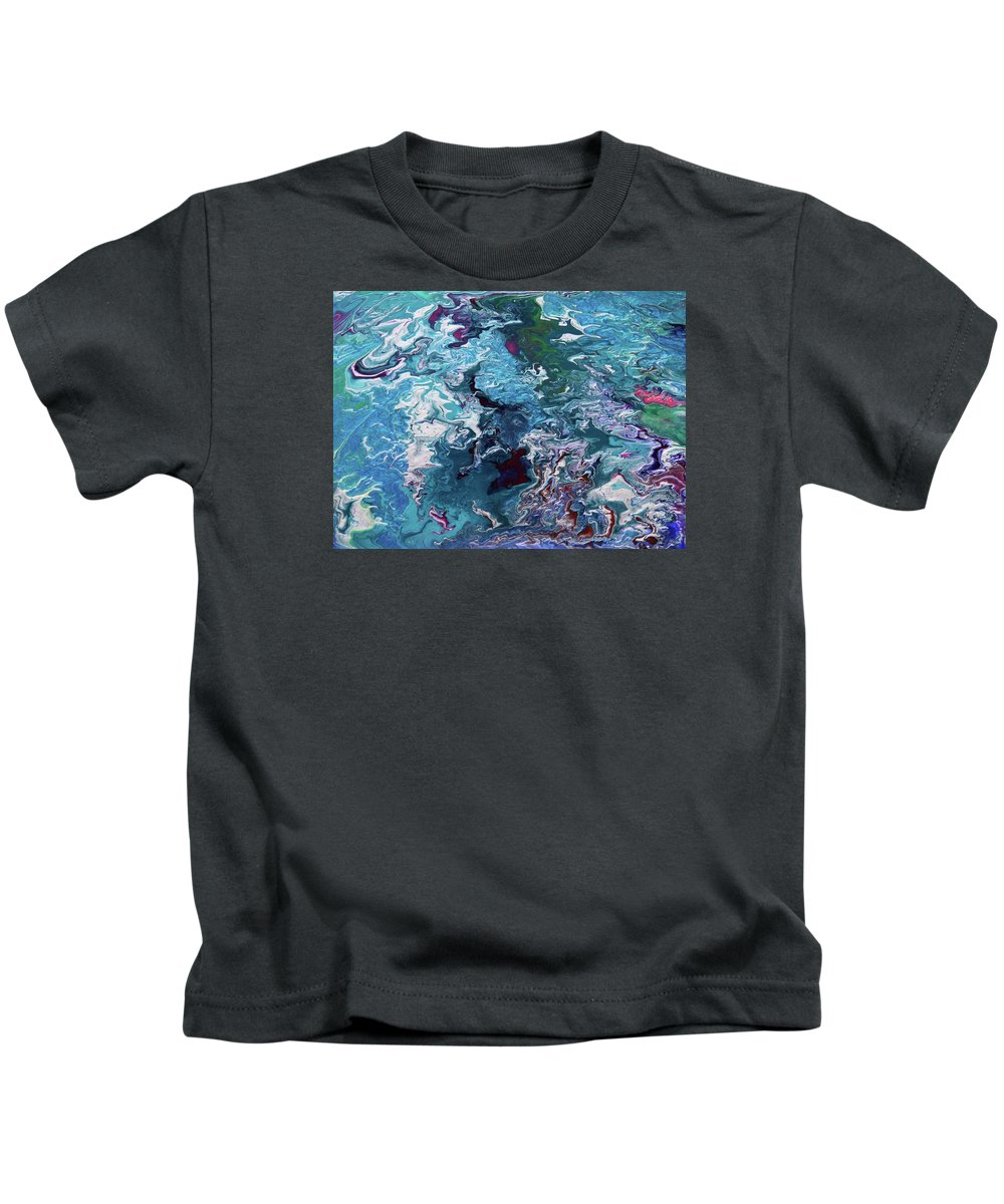 Fusionart Kids T-Shirt featuring the painting Lilies by Ralph White