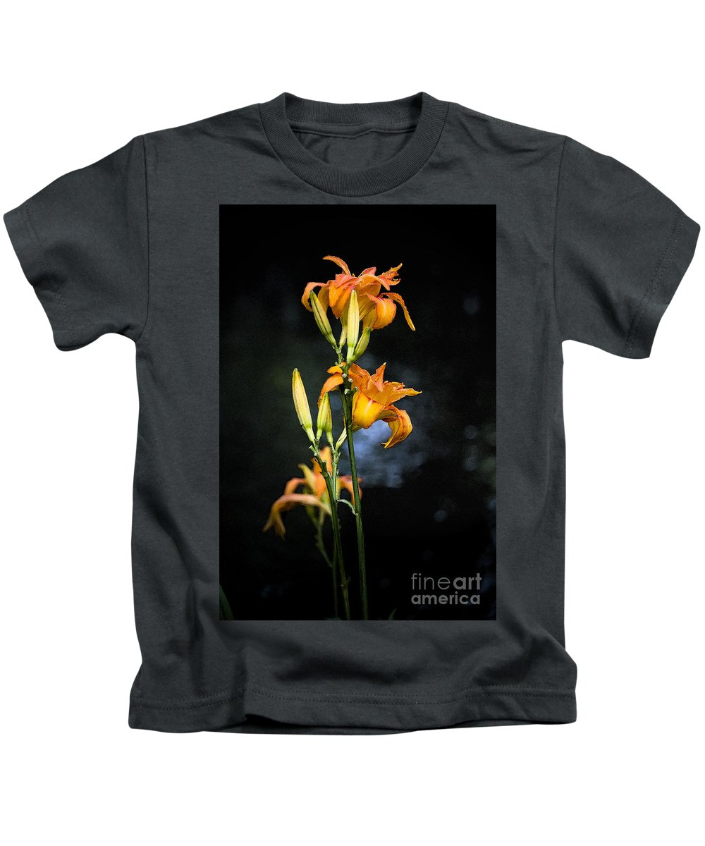 Lily Monet Garden Flora Kids T-Shirt featuring the photograph Lily in Monets Garden by Sheila Smart Fine Art Photography