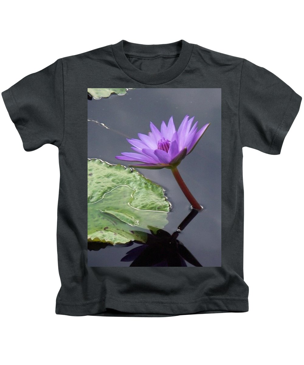 Photograph Kids T-Shirt featuring the photograph Lily Pond by Eric Schiabor