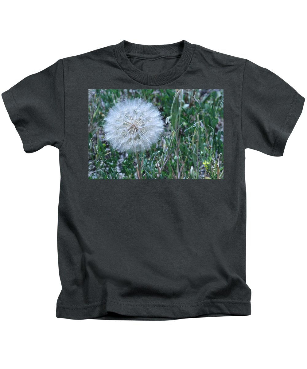 Floral Kids T-Shirt featuring the photograph Lion's Tooth by Mary Mikawoz