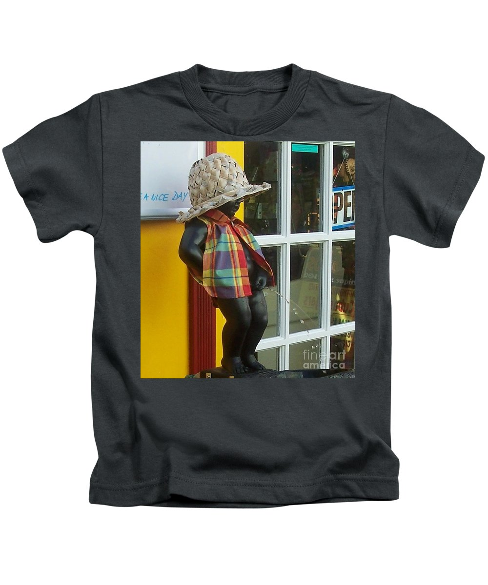 Fountain Kids T-Shirt featuring the photograph Little Wiz by Debbi Granruth