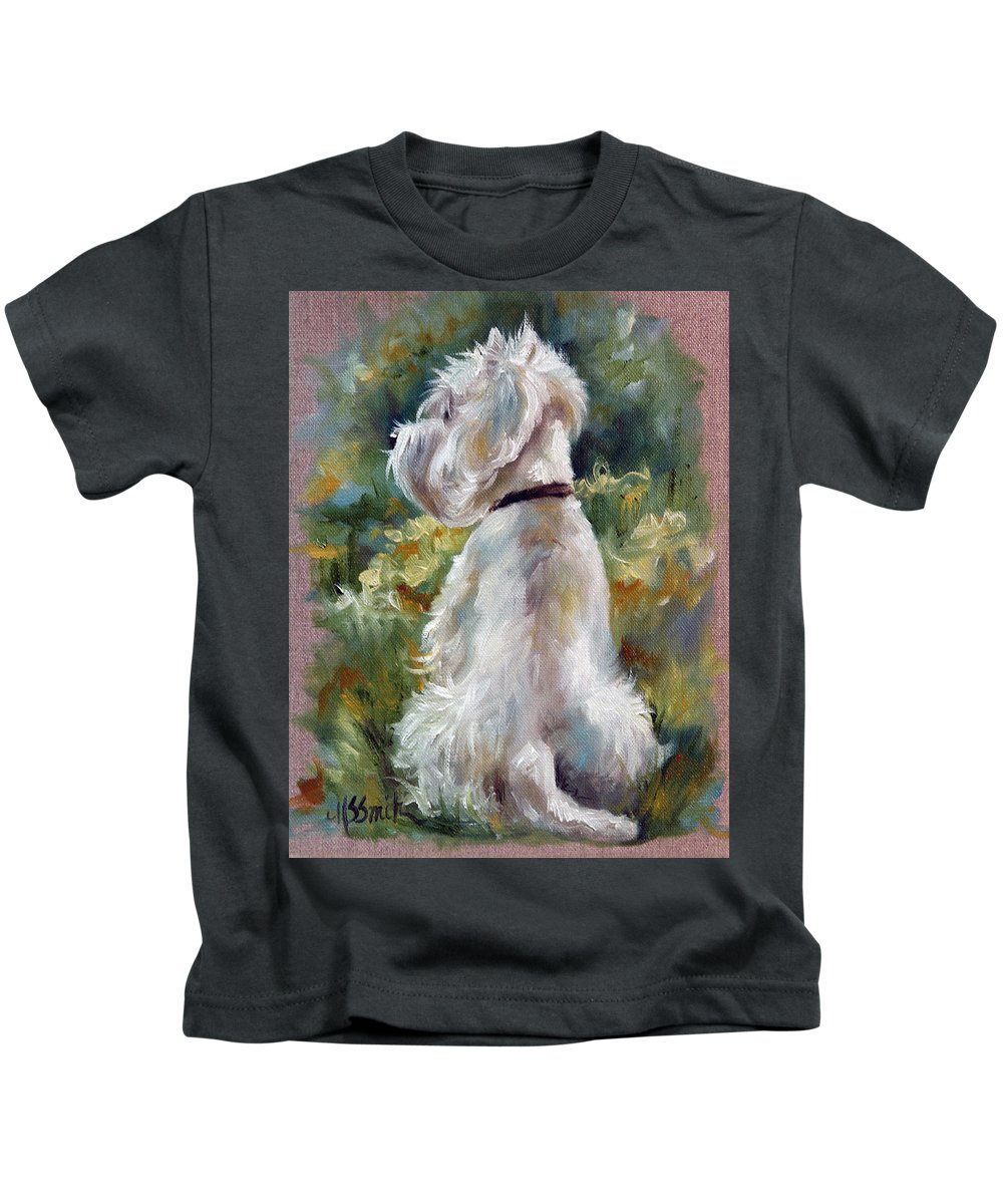 Art Kids T-Shirt featuring the painting Living Color by Mary Sparrow