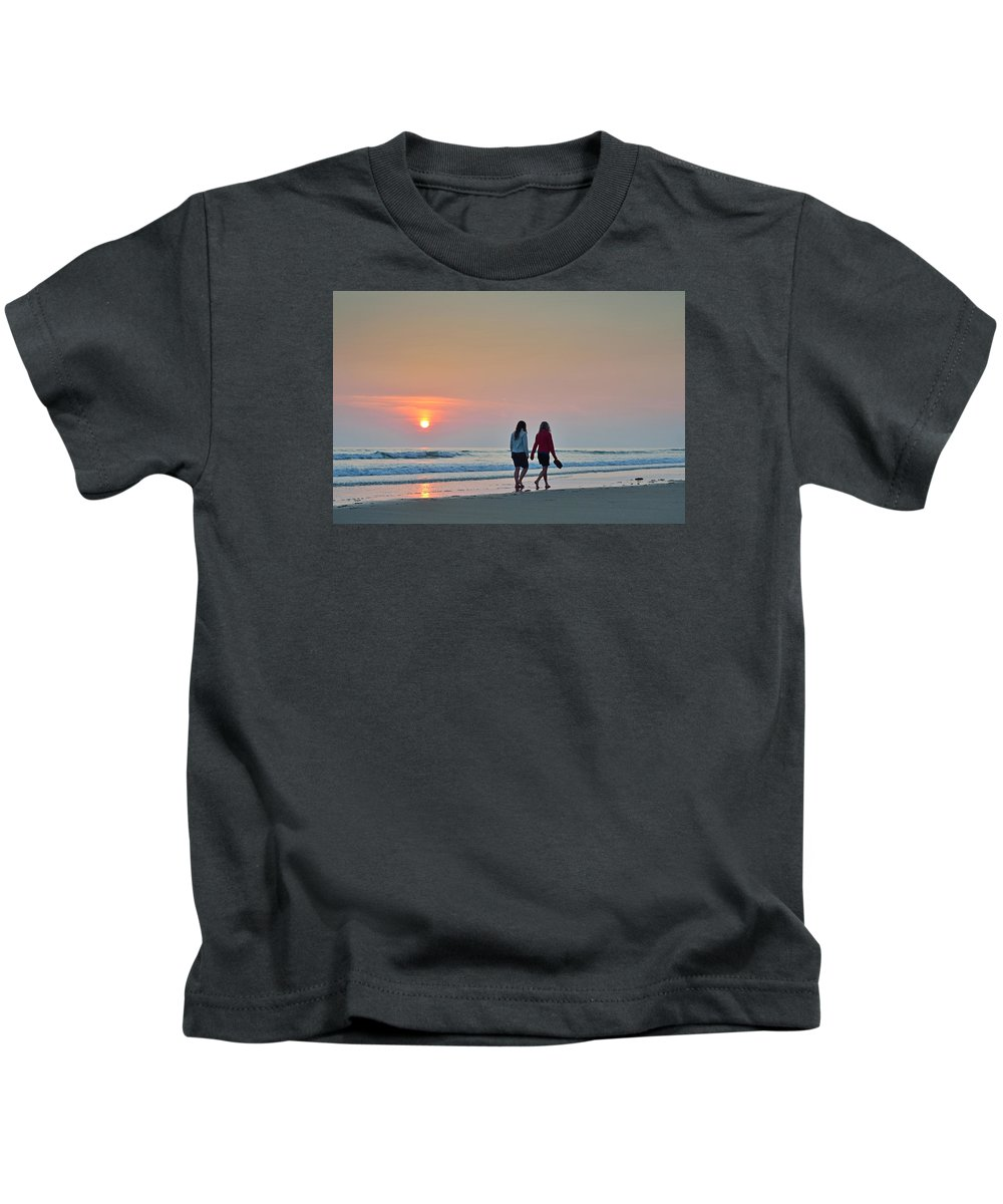 Llangennith Kids T-Shirt featuring the photograph Llangennith by Phil Fitzsimmons