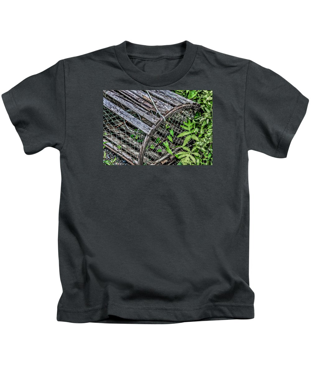 Black Brook Shop Kids T-Shirt featuring the photograph Lobster Trap by Black Brook Photography