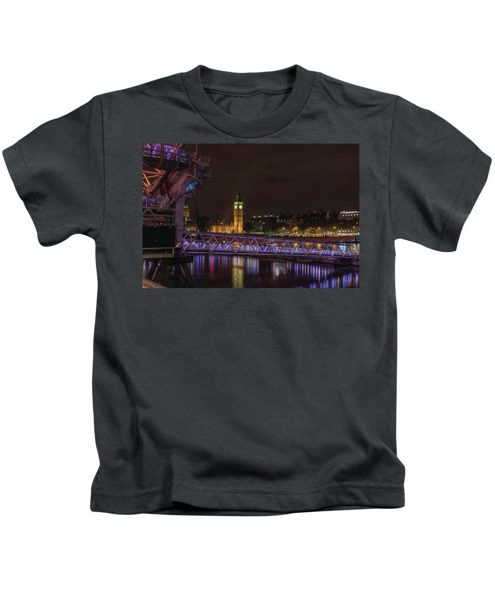 Landscape Kids T-Shirt featuring the photograph London Nights by Christopher Carthern