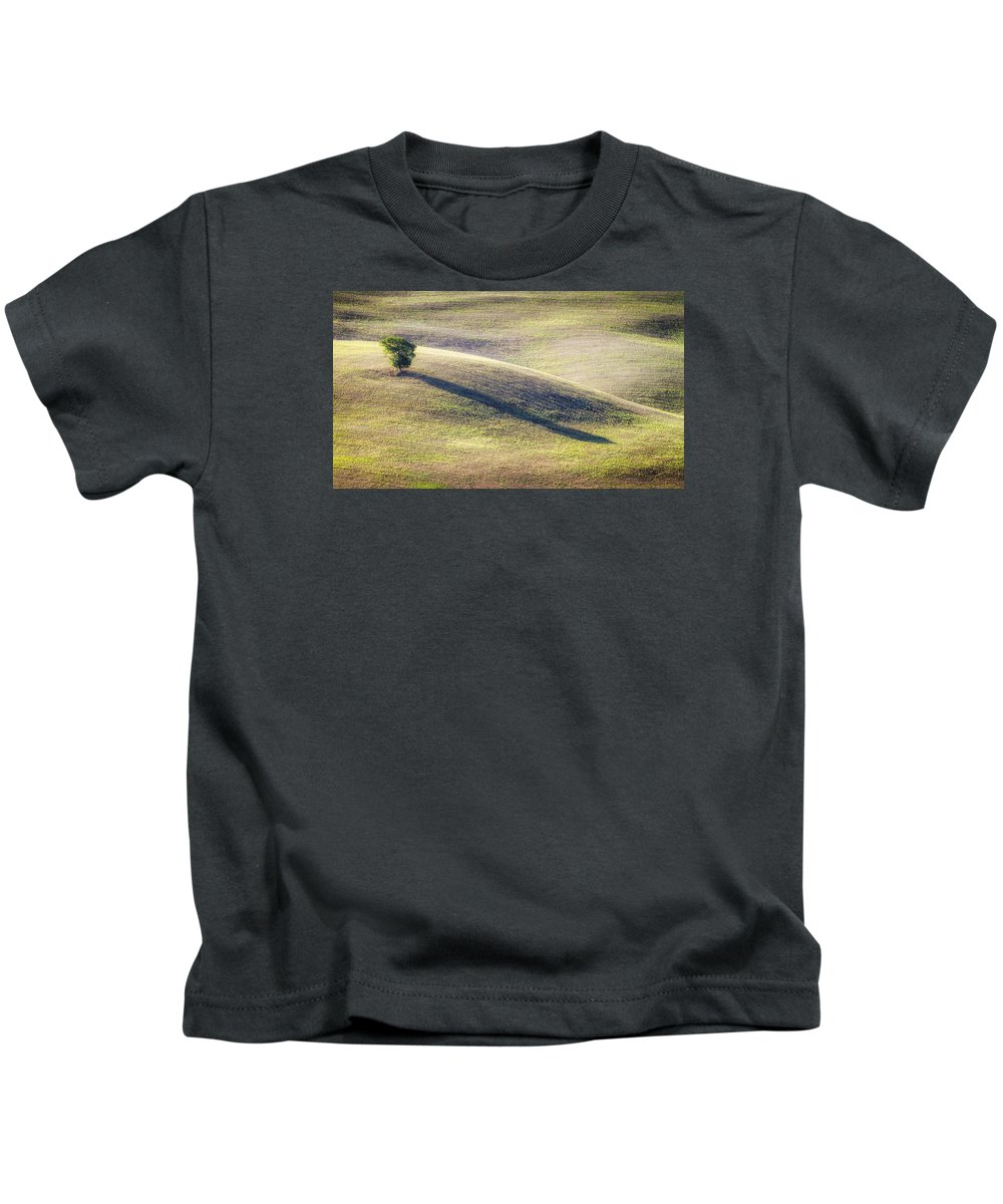 Antonio Violi Kids T-Shirt featuring the photograph Lone Tree In Tuscany by Antonio Violi