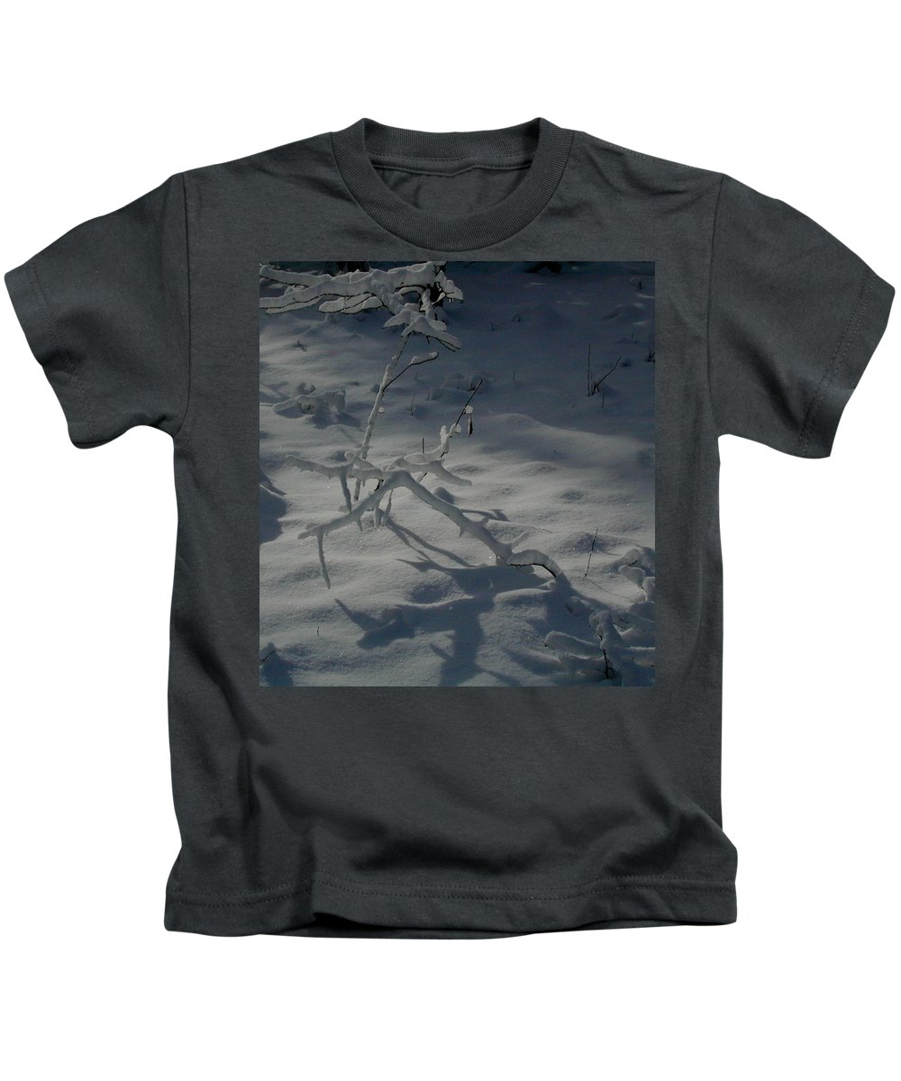 Loneliness Kids T-Shirt featuring the photograph Loneliness In The Cold by Douglas Barnett