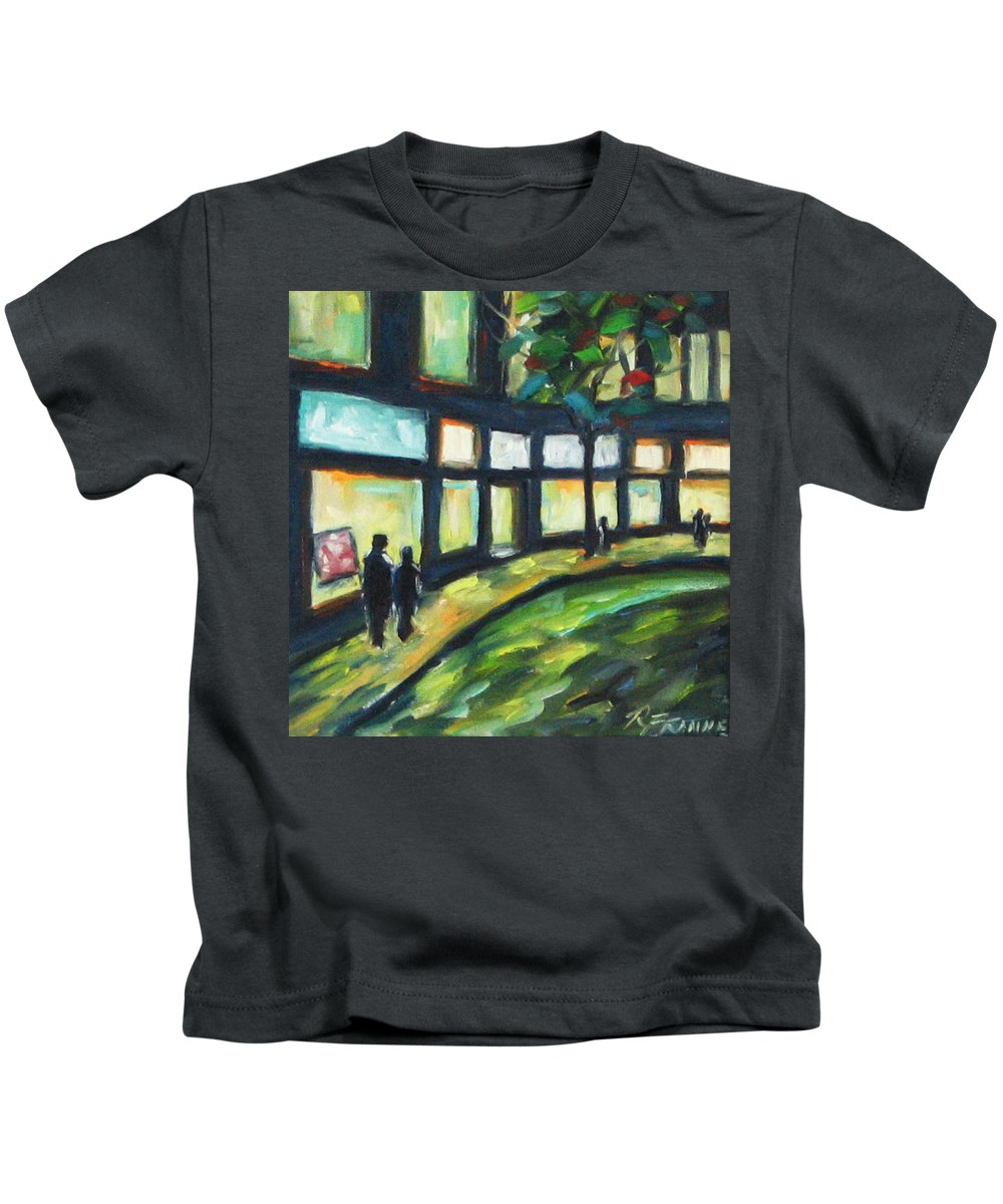 Town Kids T-Shirt featuring the painting Looking On by Richard T Pranke