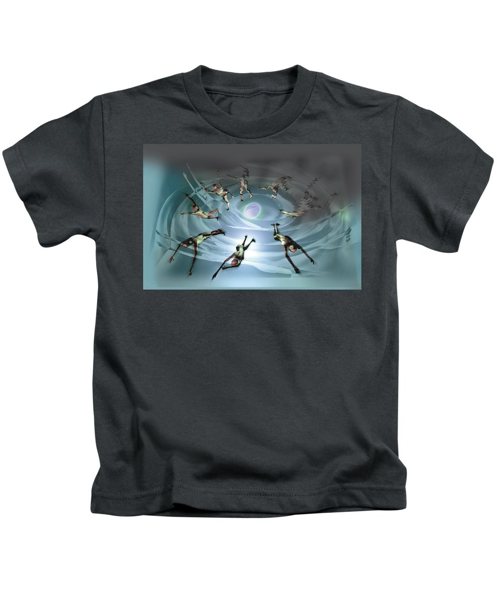 Losing Kids T-Shirt featuring the digital art Losing Life And Gaining It by Tony Macelli