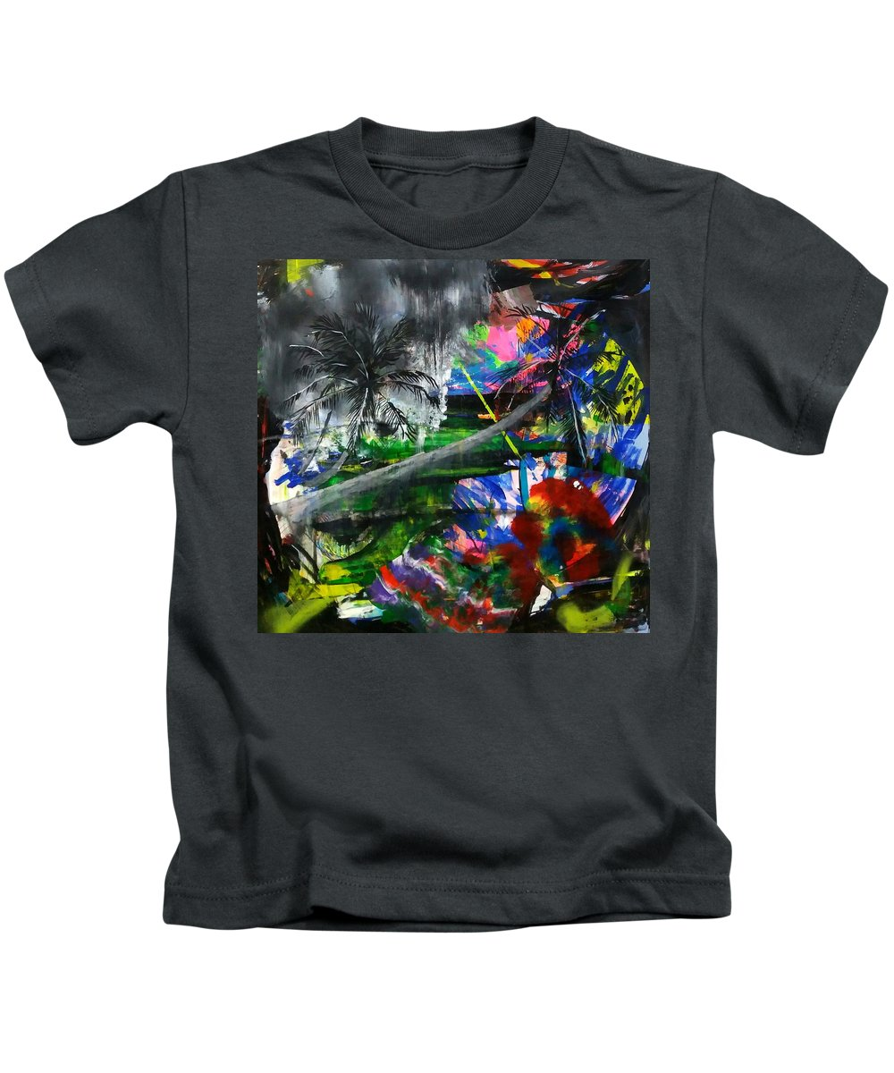 Oil Kids T-Shirt featuring the painting Lost 2 by Vacareanu Ion