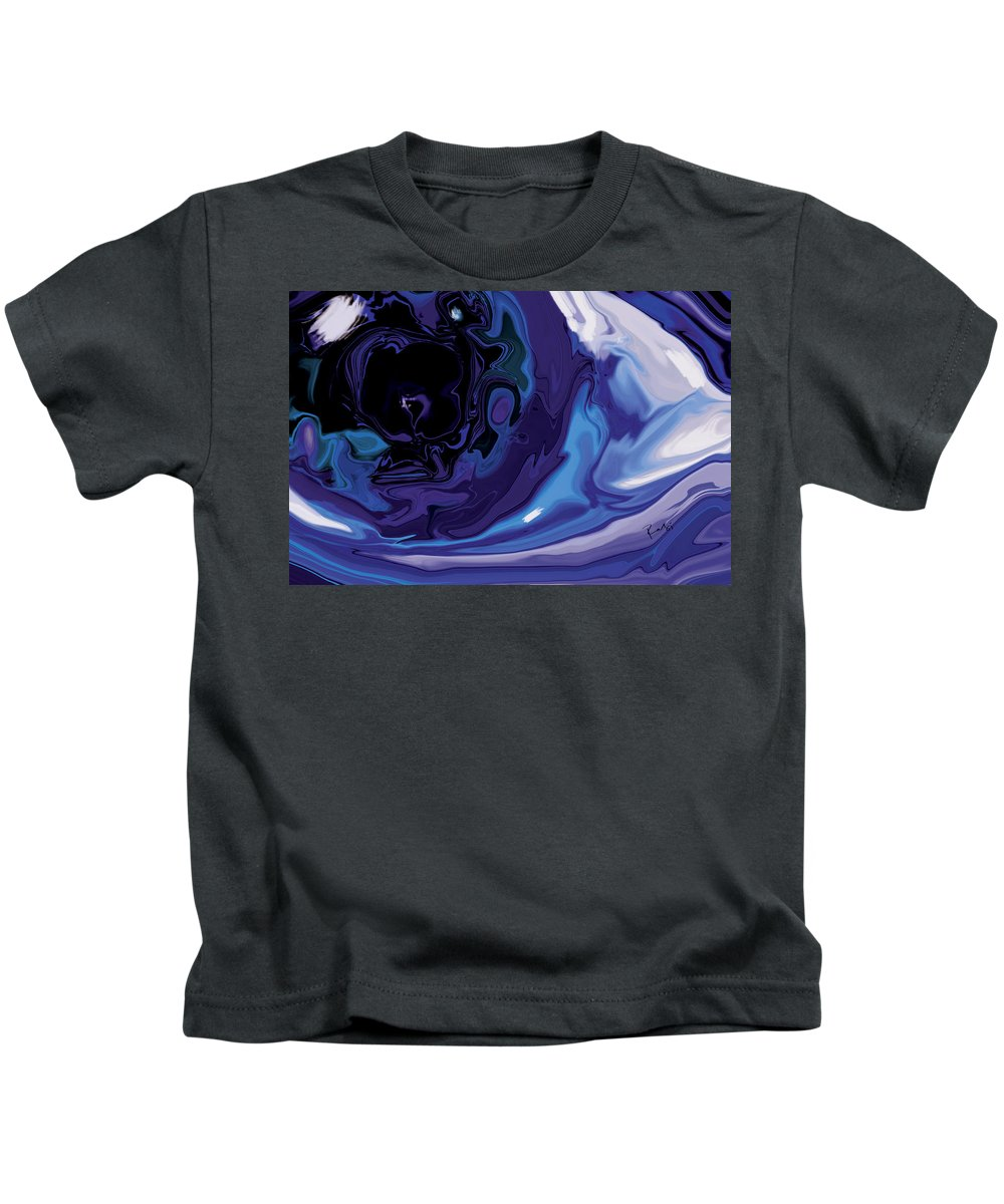 Blue Kids T-Shirt featuring the digital art Lost-in-to-the-eye by Rabi Khan