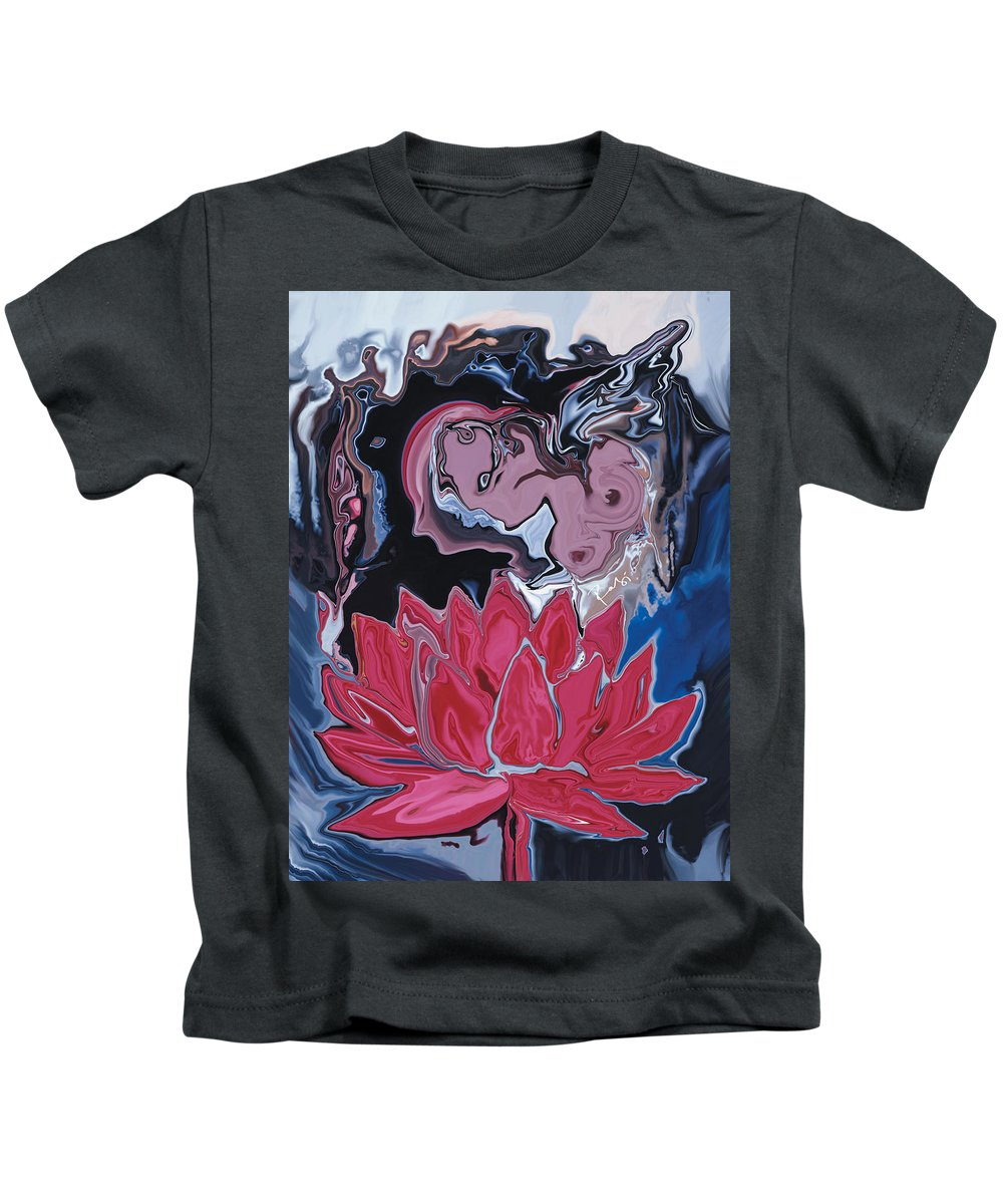Angel Kids T-Shirt featuring the digital art Lotus Love by Rabi Khan