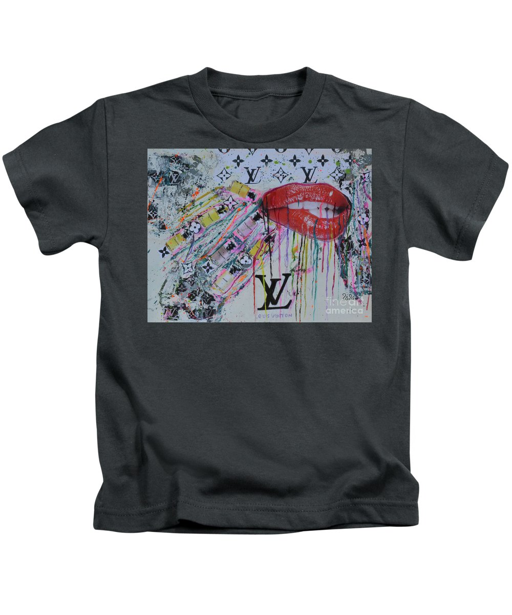 6be456b4eb21 Louis Vuitton Kids T-Shirt featuring the painting Louis Vuitton The  Magnificent Seven 3 by