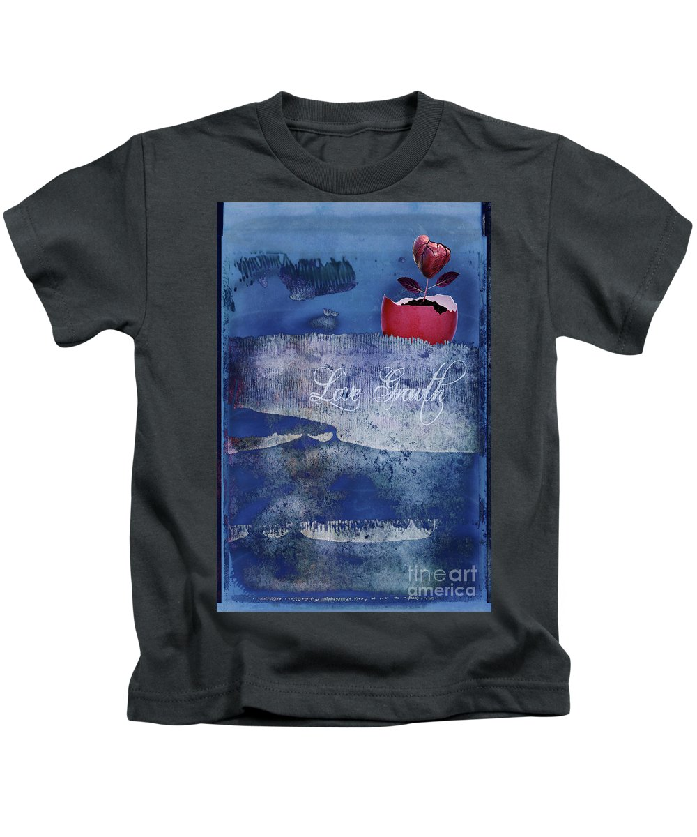 Love Kids T-Shirt featuring the digital art Love Growth - V2t2c3b by Variance Collections