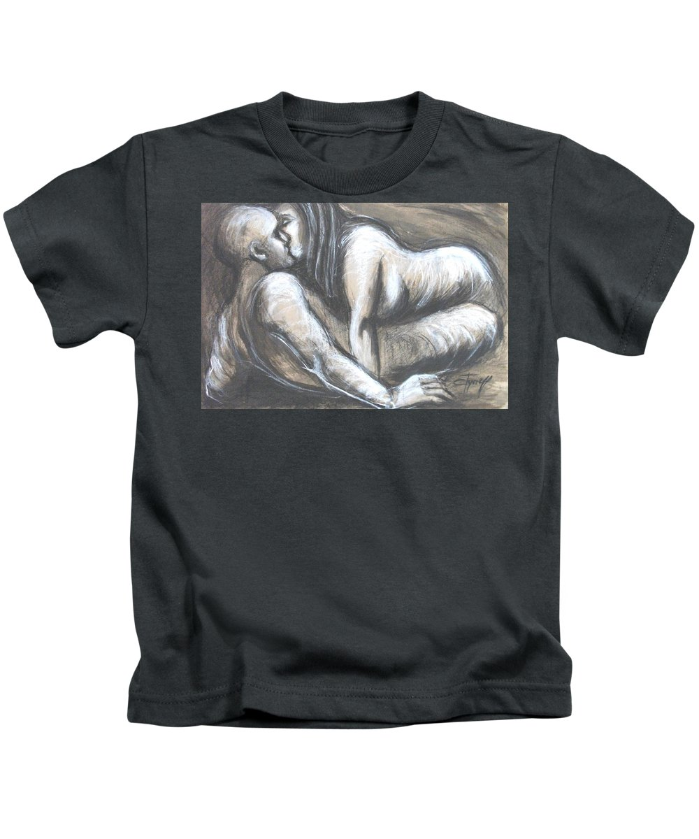 Original Kids T-Shirt featuring the painting Loves - Loving You by Carmen Tyrrell