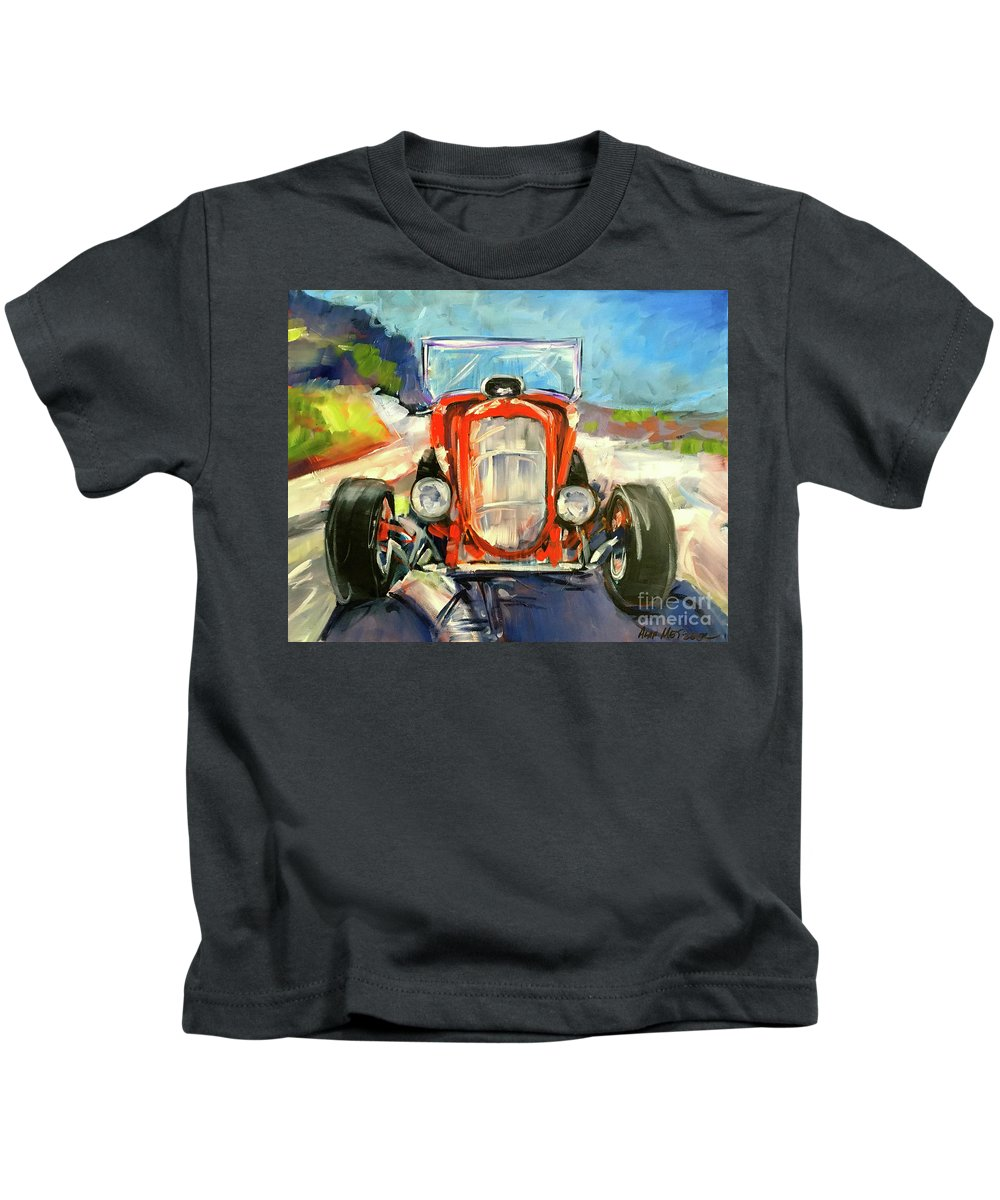 Hot Rod Kids T-Shirt featuring the painting Low Rider by Alan Metzger