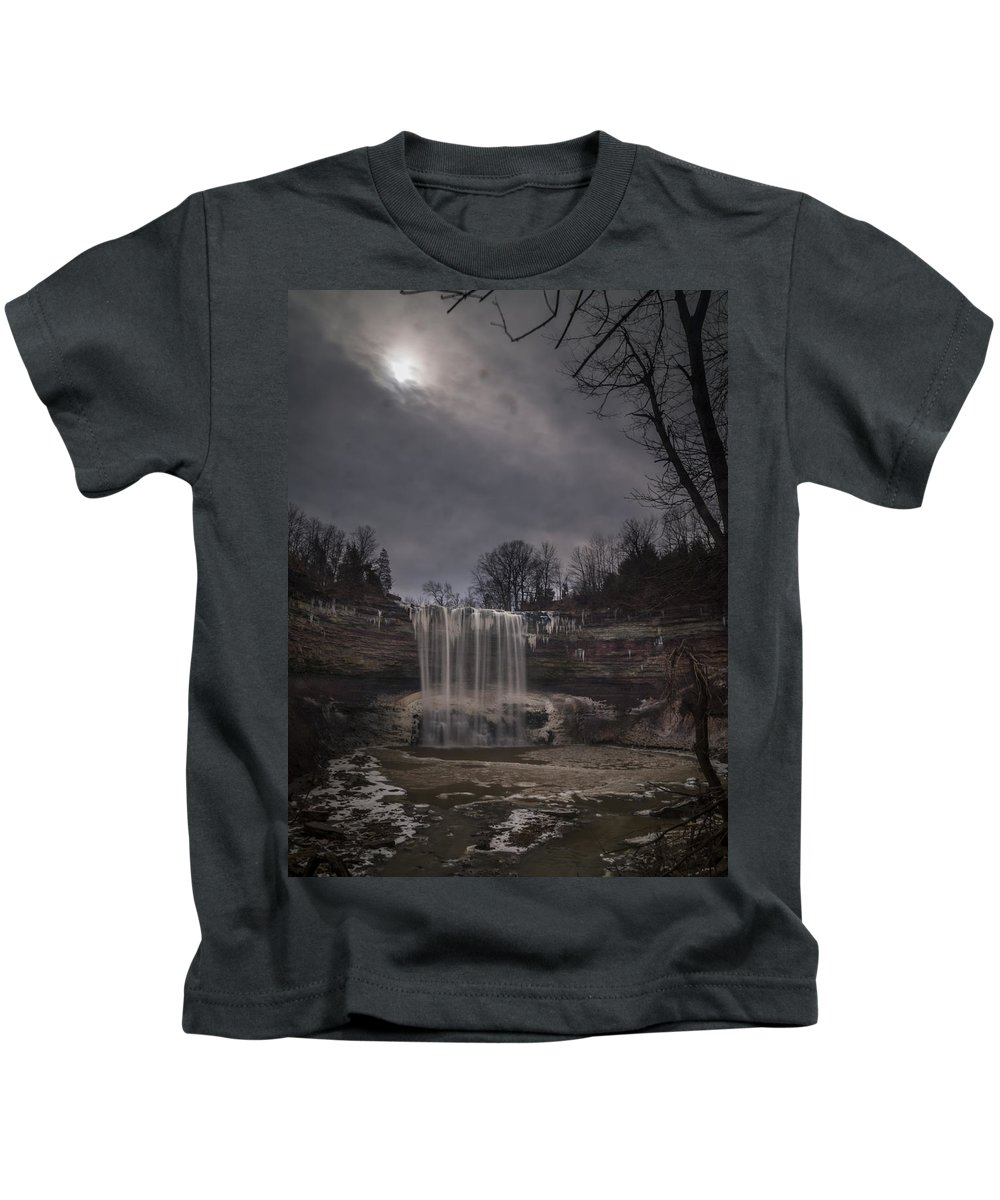 Ball's Falls Conservation Area Kids T-Shirt featuring the photograph Lower Ball's Falls by David Hook