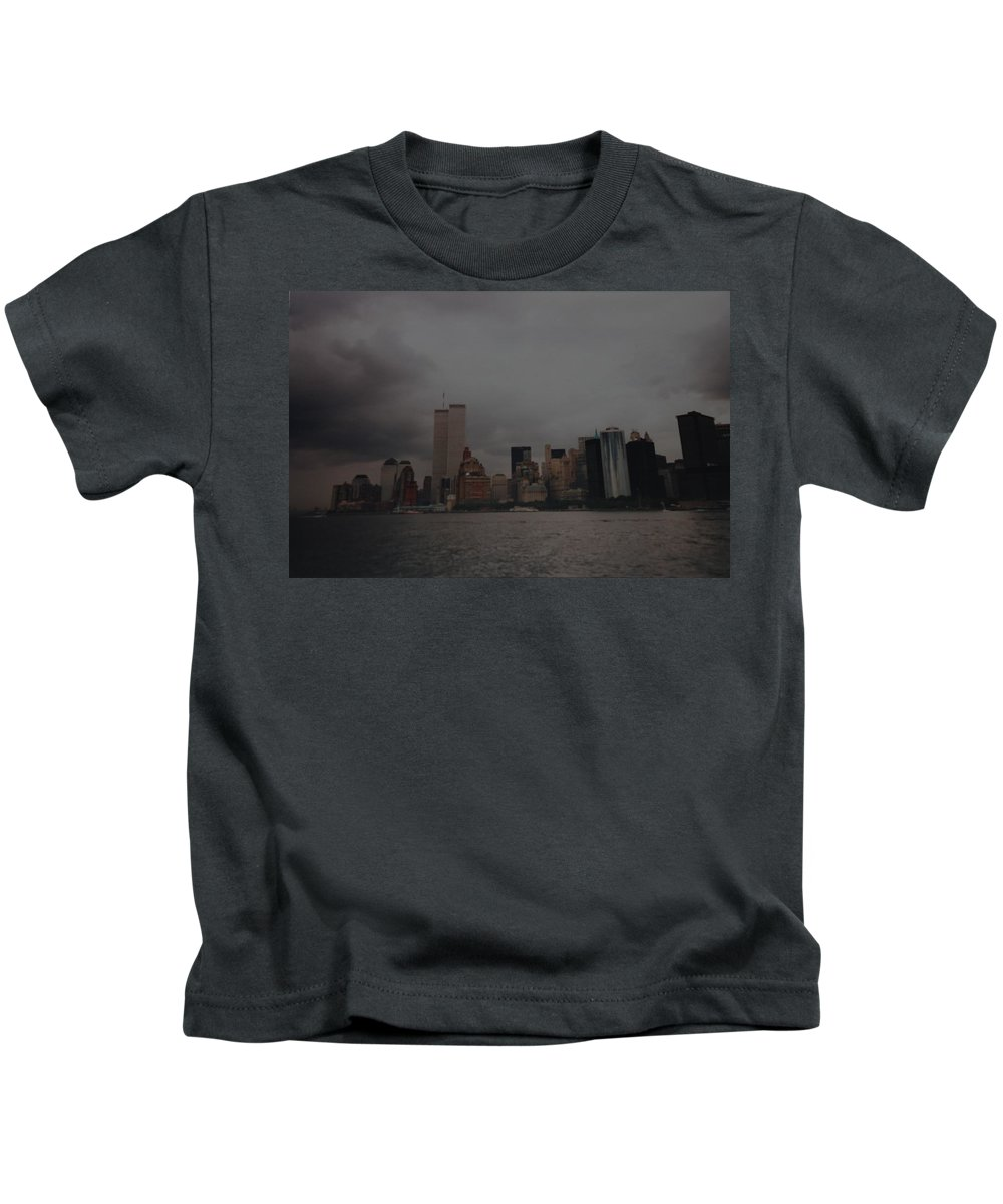Wtc Kids T-Shirt featuring the photograph Lower Manhattan by Rob Hans