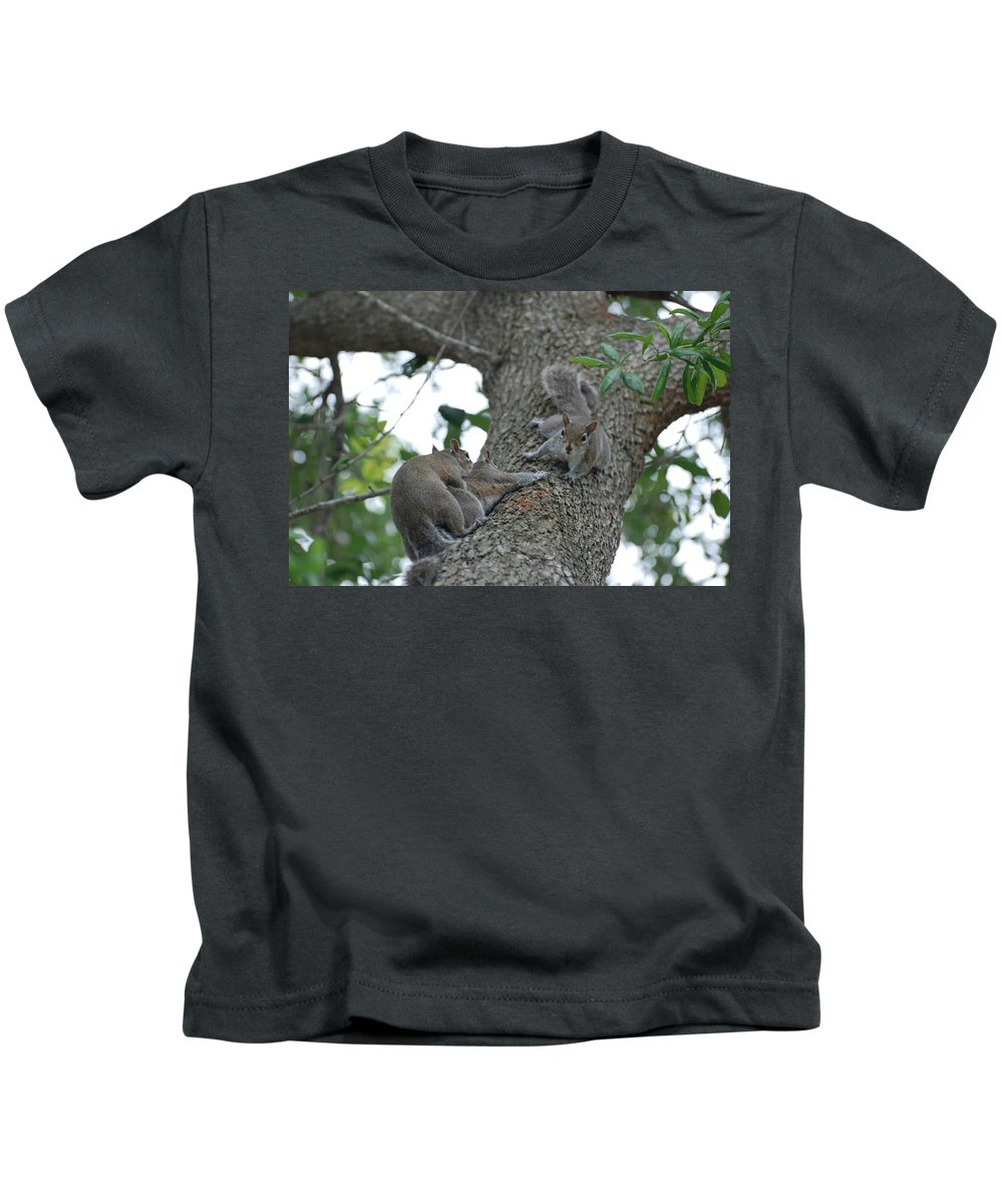 Squirrel Kids T-Shirt featuring the photograph Luck Be A Lady by Rob Hans