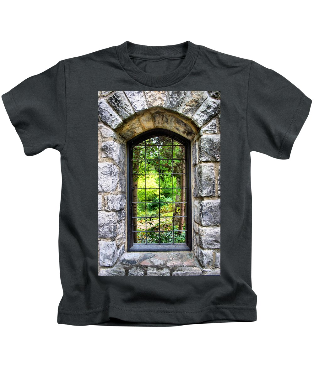 Stone Kids T-Shirt featuring the photograph Lushness Beyond The Walls by Kristin Elmquist