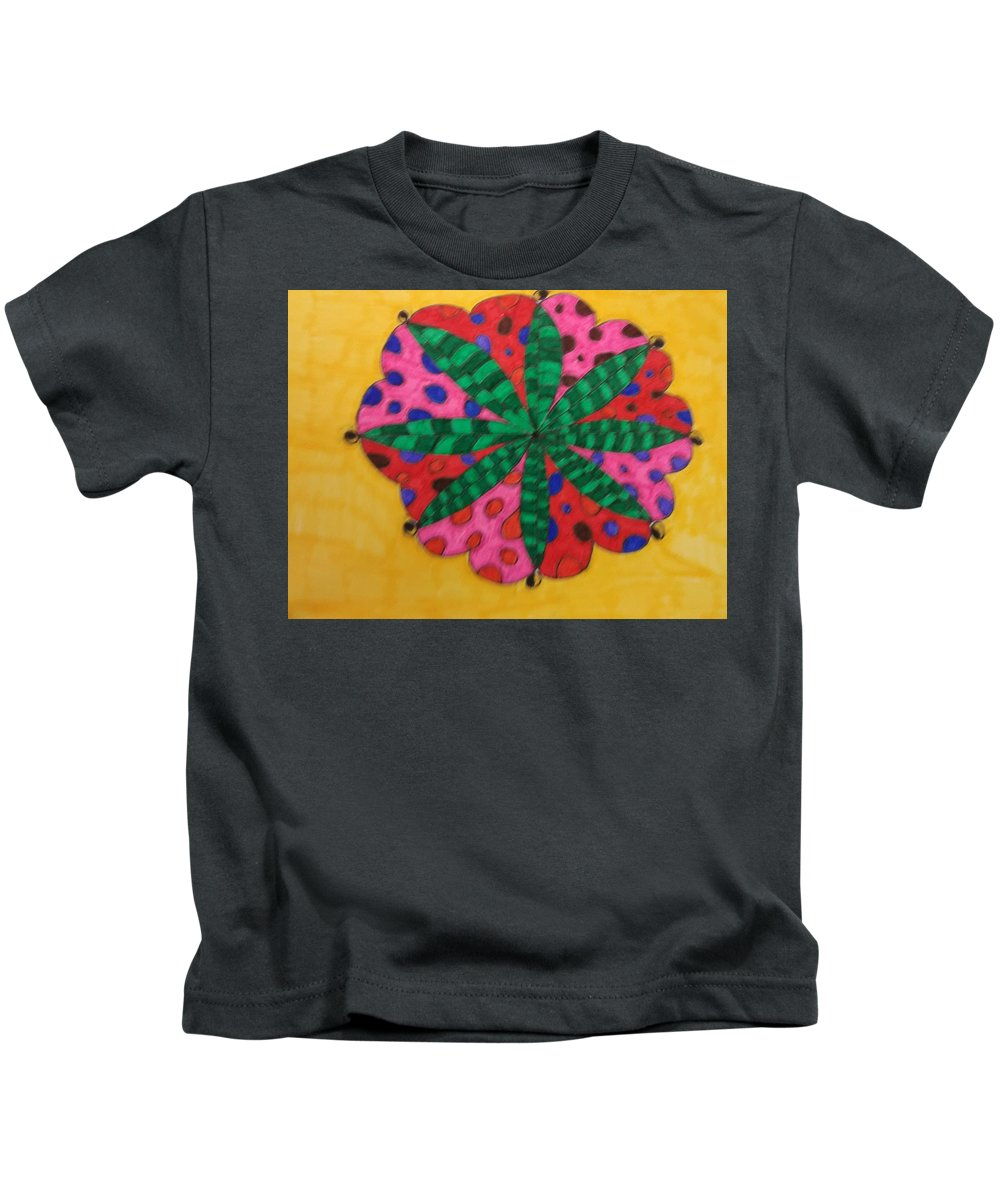 It Us My Own Design Kids T-Shirt featuring the drawing Madala by Rebecca Vega