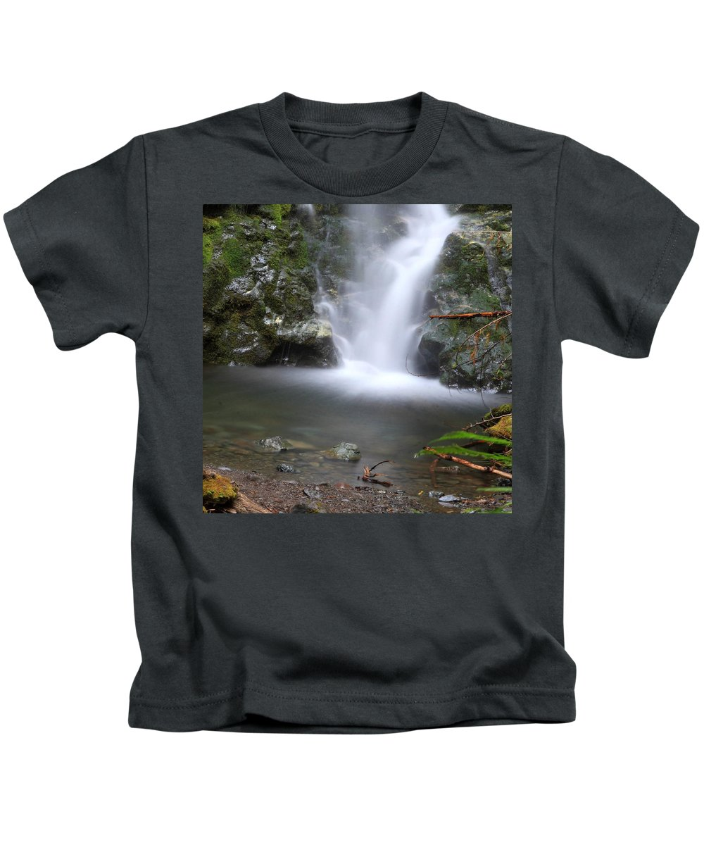 Columbia Gorge Kids T-Shirt featuring the photograph Madison Falls 2 by Ingrid Smith-Johnsen
