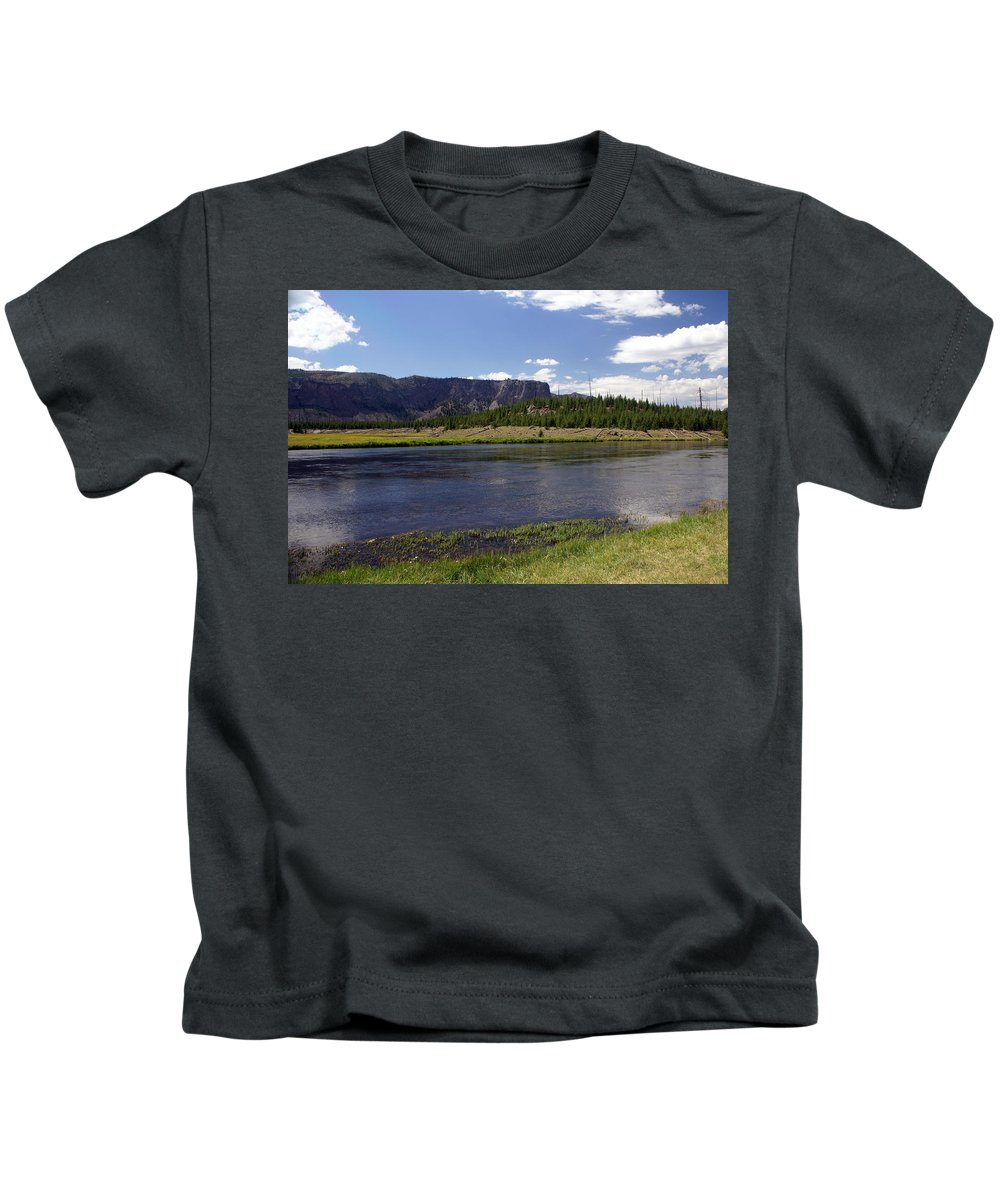 Madison River Kids T-Shirt featuring the photograph Madison River Valley by Marty Koch