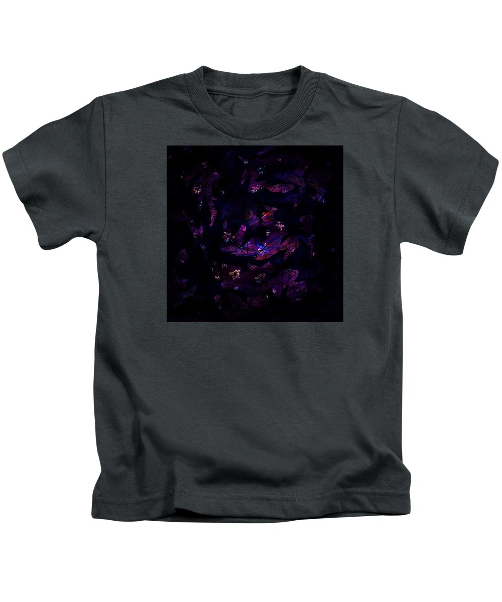 Abstract Kids T-Shirt featuring the digital art Magic After Midnight by Rachel Christine Nowicki