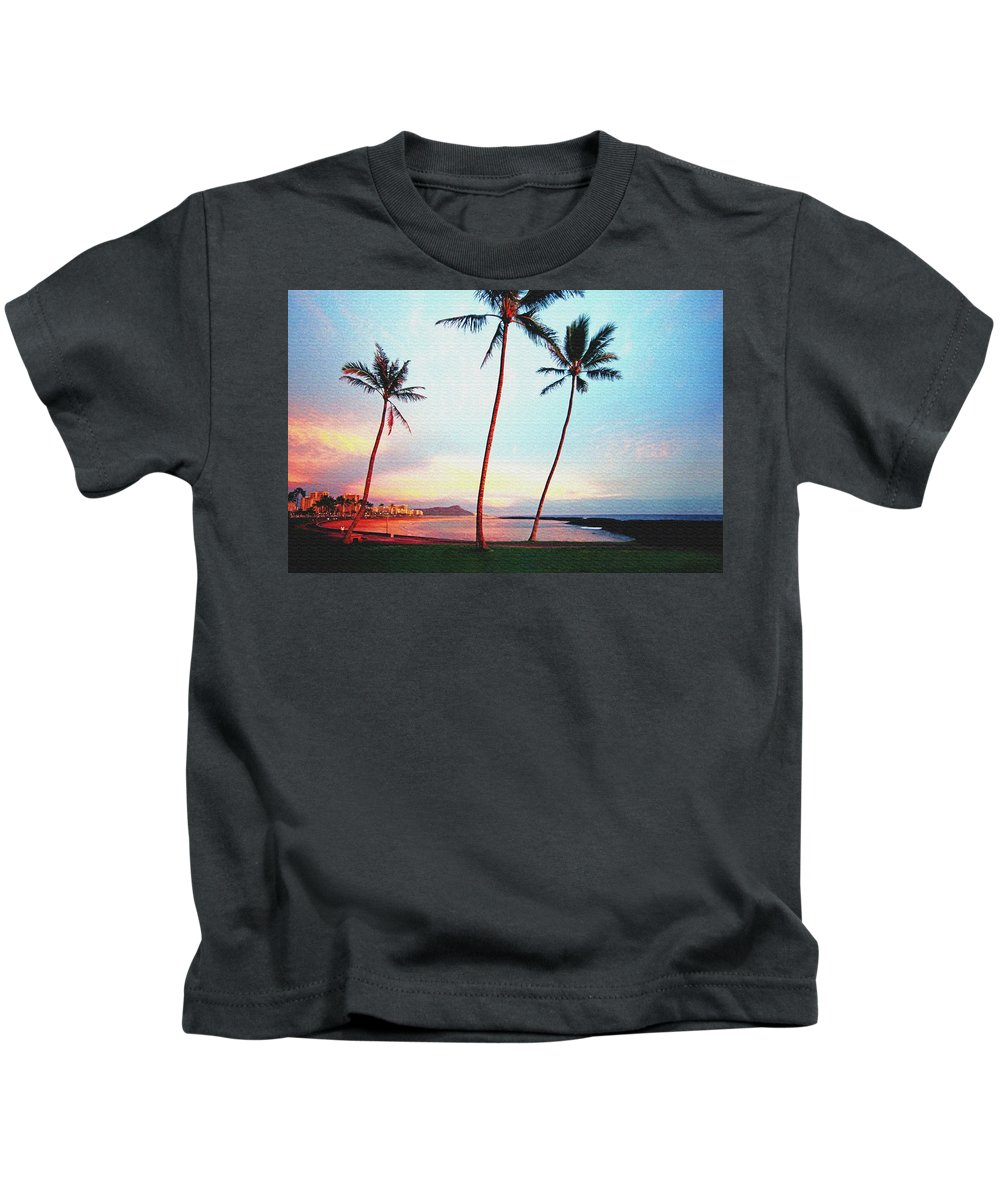 Hawaii Kids T-Shirt featuring the photograph Magic Island Canvas by Kevin Smith