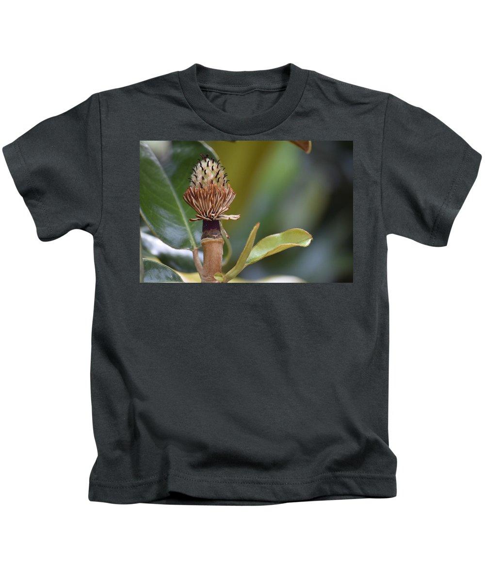 Magnolia Kids T-Shirt featuring the photograph Magnolia by Anita Goel
