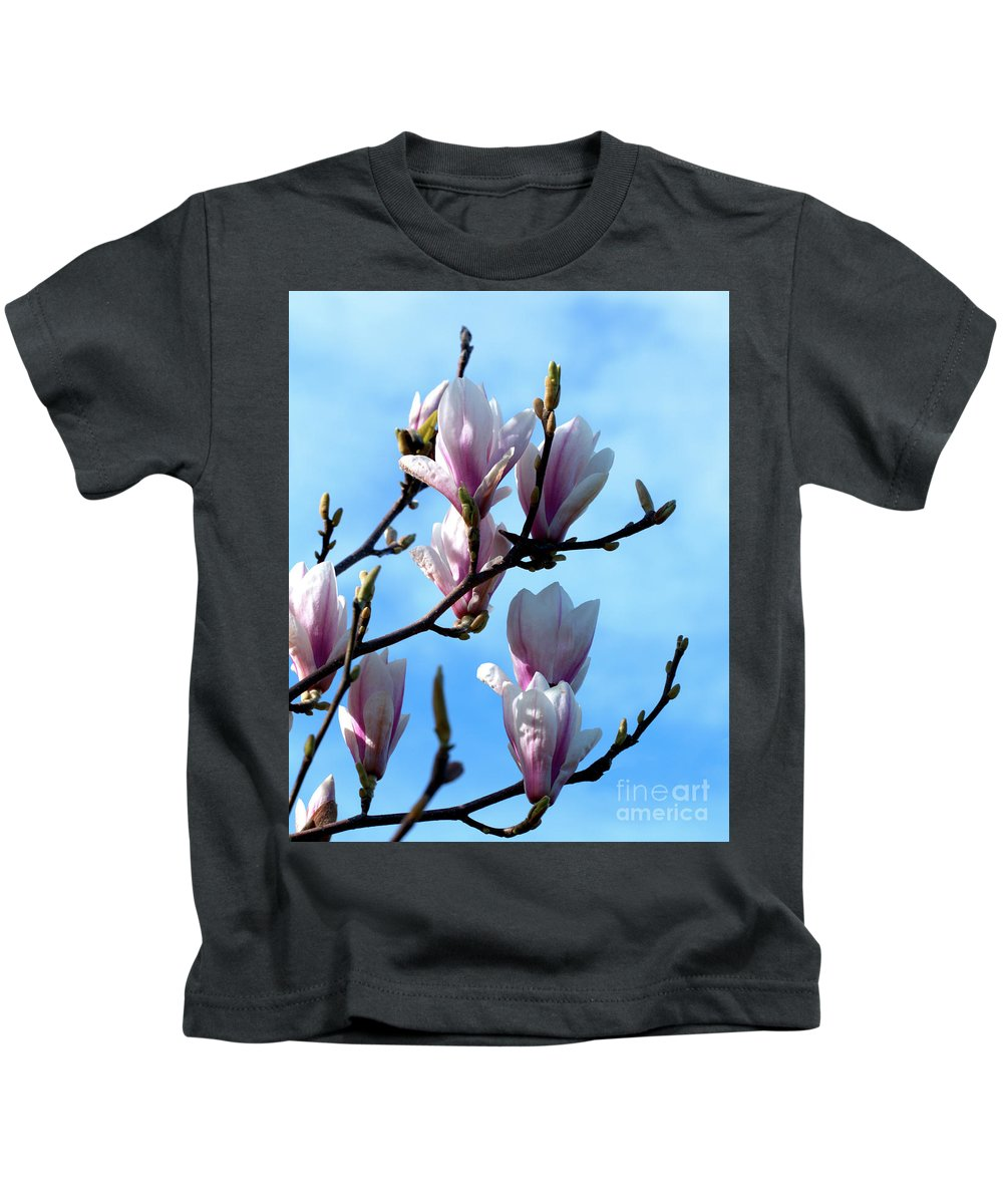Flora Kids T-Shirt featuring the photograph Magnolia Blooms by Baggieoldboy