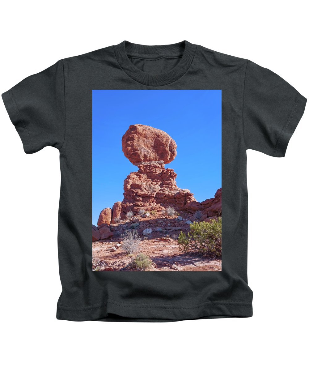 Landscape Kids T-Shirt featuring the photograph Maintaining A Balance by John M Bailey