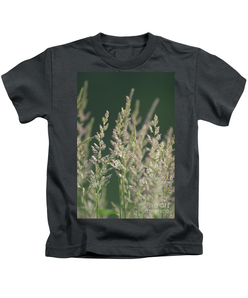 Background Kids T-Shirt featuring the photograph Majestic Grass by Alan Look