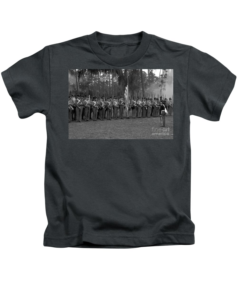 Dade Battlefield Kids T-Shirt featuring the photograph Major Dade's Men by David Lee Thompson