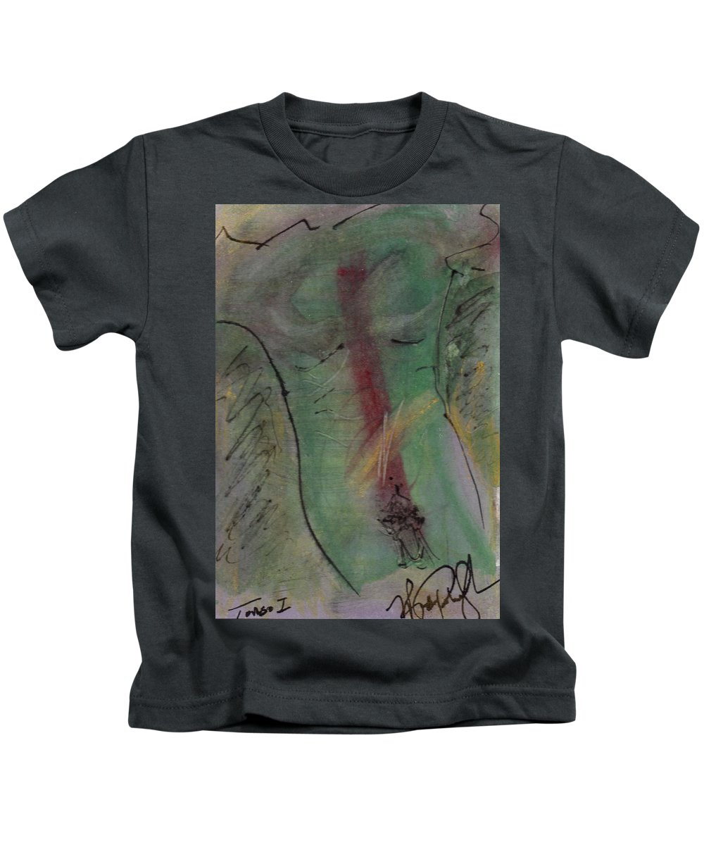 Nude Kids T-Shirt featuring the painting Male Nude Torso 1 by Wayne Potrafka