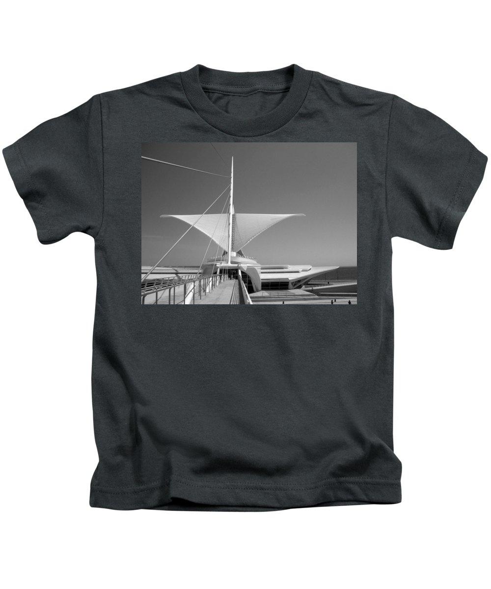 Mam Kids T-Shirt featuring the photograph Mam Wings Spread B-w by Anita Burgermeister