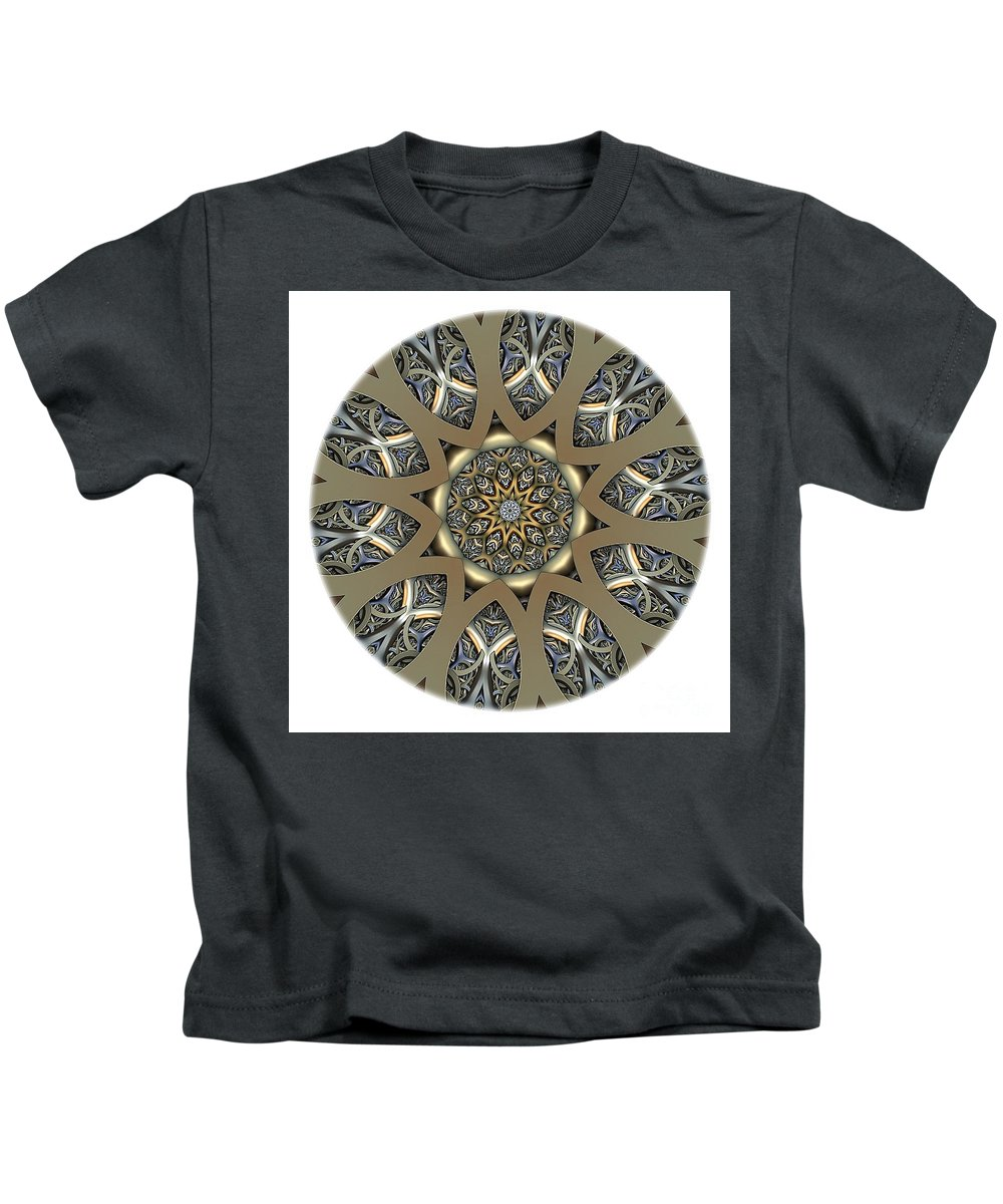 Talisman Kids T-Shirt featuring the digital art Mandala - Talisman 1434 by Marek Lutek